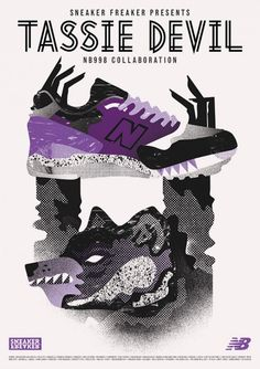 "Sneaker Freaker x New Balance 998 ""Tassie Devil"" poster New Balance 998 8a24ce2c92"