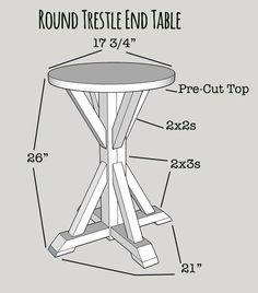 Rachel of Shades of Blue Interiors shows you how to build this useful round trestle end table. She says she did it for about $10 and in a couple of hours.  || @shadesofblueint