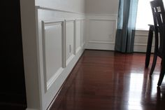 #DIY #Wainscoting tutorial.  Get this traditional look by building it from scratch.  Super detailed.