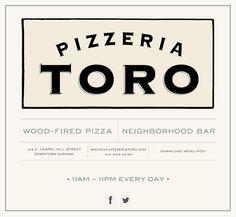 Pizzeria Toro • Wood Fired Pizza, Seasonal Snacks and Neighborhood Bar in Durham, NC