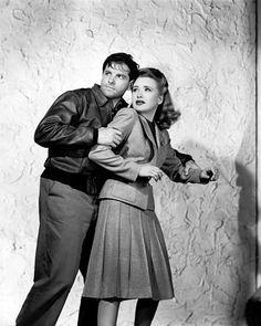 """Saboteur"" Robert Cummings and Priscilla Lane 1942 Universal"
