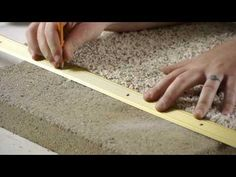 ▶ How to Install Carpet Transition Trim Between Concrete & Carpet Flooring : Carpeting Tips - YouTube