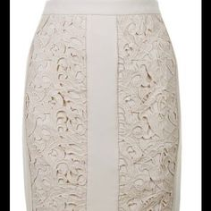 Peony Lace Embroidered Skirt Filly Lined Awesome Designer Cut Skirt! Skirts