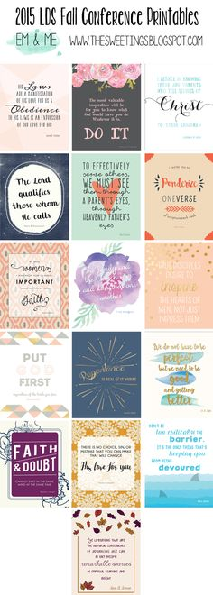 2015 LDS October General Conference free printables from em & me