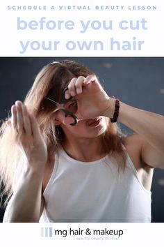 Whether for Zoom calls or IRL, learn hair and makeup tips personalized to enhance your natural beauty through our virtual beauty lessons. M Beauty, Beauty Hacks, Hair And Makeup Tips, Hair Makeup, Diy Haircut, How To Cut Your Own Hair, Zoom Call, Bad Hair Day, Wedding Looks