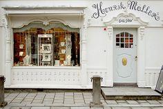 Pretty storefront in Trondheim, Norway