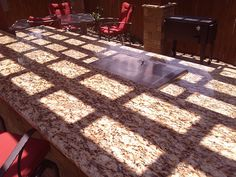 Gorgeous #granite #countertops for outdoor living area by DH Landscape Design
