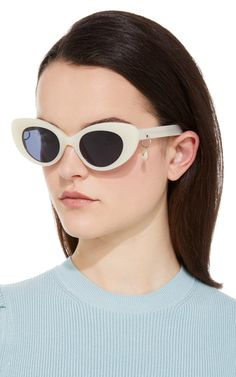 M'O Exclusive Poms & Pared Acetate Cat-Eye Sunglasses by PARED EYEWEAR Now Available on Moda Operandi