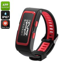 High-end fitness tracker bracelet comes with a number of advanced health features Keep track of real-time temperature, air pressure, and heights Fitness Tracker Bracelet, Best Online Clothing Stores, Waterproof Fitness Tracker, Bluetooth Watch, Electronics Gadgets, Heart Bracelet, Heart Rate, Smart Watch, Red