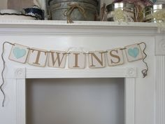 Baby Shower Banner Twins Shower Banner Twin Boys Banner by ItzMyParty on Etsy