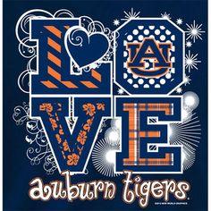 auburn tigers football t-shirts | Auburn Tigers Football T Shirts Auburn Girls Love Auburn Tigers Color ...