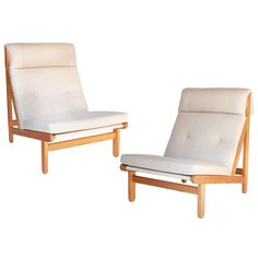 Pair of Mid-Century Chairs by Bernt Petersen | From a unique collection of antique and modern chairs at https://www.1stdibs.com/furniture/seating/chairs/
