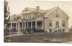 BAD AXE, MIchigan Hubbard Memorial Hospital, 1914 Real Photo Postcard