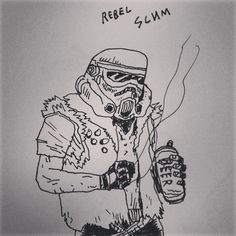 New zine REBELSCUM drops Saturday at ATL zine fest y'all! #rebelscum #guttercrustfromagalaxyfarfaraway #atlzinefest by agentfoureyes