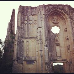 Les Roches-Tranchelion (a ruined church), France