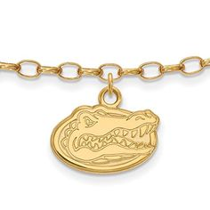Sterling Silver w 14K Yellow GoldPlated LogoArt Official Licensed Collegiate University of Florida UF Anklet ** Check out the image by visiting the link.(This is an Amazon affiliate link and I receive a commission for the sales)