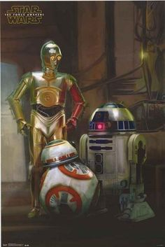 An awesome poster of the Droids from Star Wars: The Force Awakens - C-3PO, R2-D2, and BB-8! Fully licensed. Ships fast. 22x34 inches. Be a good Jedi and check out the rest of our stellar selection of