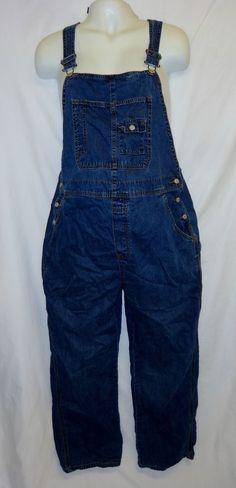 Old Navy Maternity M Denim Overalls Pants 90's Grunge Jean Bib  #OldNavy #Overalls