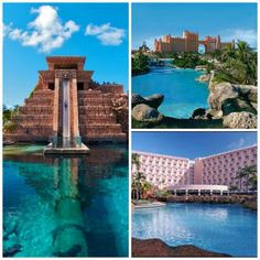 Atlantis paradise island bahamas leap of faith waterslide propels