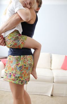 Mother Daughter Shorts, free pattern and DIY