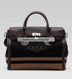 Gucci Medium Carry-On Duffel Black/Cuir 271564 F621G 8470