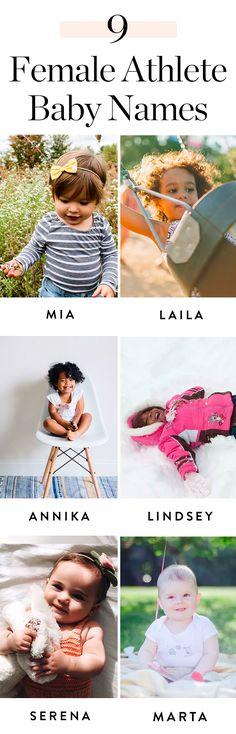10 Female Athlete-Inspired Baby Names for Your Little Champion #babynames #femaleathletes