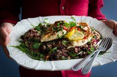 teplý rýžový salát Menu, Ethnic Recipes, Image, Food, Menu Board Design, Essen, Meals, Yemek, Eten
