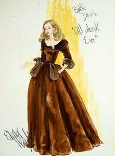 Bette Davis as Margo Channing In, 'All About Eve', 1950 - Costume Designed by Edith Head.