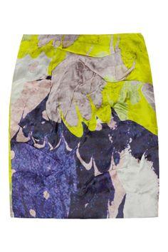 Michael van der Ham | Folded printed silk-organza mini skirt | NET-A-PORTER.COM