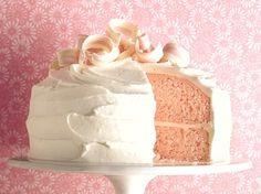 Pink Almond Party Cake - Que Rica Vida