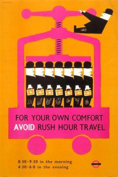 1958 London Rail travel poster. artist = Victor Galbraith