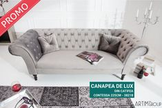 Chesterfield, Sofas, Love Seat, Couch, Chair, Grey, Mousse, Furniture, Glamour