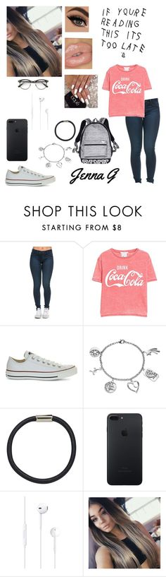 """""""8th Day Of School.....♡"""" by iamjennagarcia on Polyvore featuring MANGO, Converse, Victoria's Secret, Love This Life, Hershesons and ZeroUV"""
