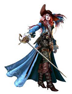Female Sylph Swashbuckler - Pathfinder PFRPG DND D&D d20 fantasy