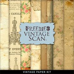 New Freebies Background Kit in Vintage Paper:Far Far Hill - Free database of digital illustrations and papers