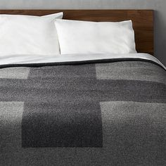 Free Shipping.  Shop faribault plus king blanket.   A blend of recycled and new wool, this blanket warms our modern hearts in heather grey with a bold plus sign, front and center.  It's woven exclusively for CB2 by the Faribault Woolen Mill Co.