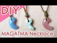 DIY:BIG MAGATAMA Necklace Tutorial 勾玉ネックレスの作り方 - YouTube