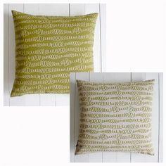SCRIBBLES LIME Dark/Light Cushion