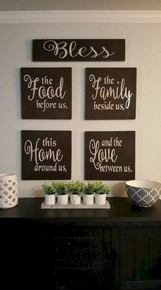 30 easy diy pallet wall art ideas diy home decor diy pallet Dining Room Wall Decor, Home Wall Decor, Diy Home Decor, Wall Decor For Kitchen, Kitchen Wall Decorations, Dining Room Quotes, House Decorations, Kitchen Wall Canvas Ideas, Kitchen Ideas