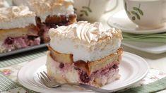 Tvarohová žemľovka so snehom: Taká krásna! Cheesecake, Pudding, Desserts, Food, Tailgate Desserts, Deserts, Cheesecakes, Custard Pudding, Essen
