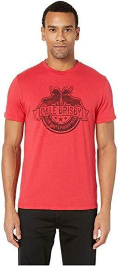c0042ef3 Panhandle Dale Brisby Red T-Shirt Ridin' Bulls & Punchin' Fools