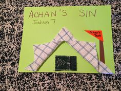 Children's Bible Lessons: Lesson - Achan's Sin And Its Penalty Kindergarten Sunday School, Sunday School Crafts For Kids, Sunday School Lessons, Preschool Bible Lessons, Bible Lessons For Kids, Bible Activities, Youth Lessons, Church Activities, Bible Story Crafts
