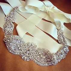 This gorgeous bridal sash is wonderful addition to your very special beautiful Wedding dress. New Sophisticated Finest Crystal Wedding Dress Sash. This is an exquisite & high quality crystal sash also having an incredible shine &. Bridesmaid Belt, Wedding Dress Sash, Wedding Belts, Wedding Gowns, Crystal Belt, Crystal Rhinestone, Crystal Wedding, Bridal Lace, Bridal Gown