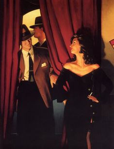 """I absolutely love the paintings of Jack Vettriano, they are mysterious, (often!) sexy and remind me a bit of """"mad men"""""""
