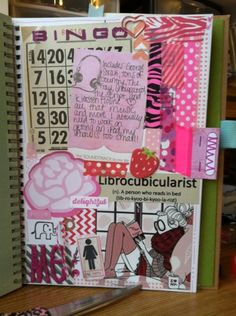 Pink page in Retro smash folio