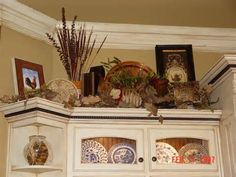 decorating above kitchen cabinets |  christmas / winter
