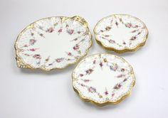 Royal Crown Derby's Royal Antoinette Dessert Set ♥ See more at www.PeriodElegance.etsy.com