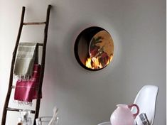 Double-sided gas wall-mounted fireplace STÛV B-50   Double-sided fireplace