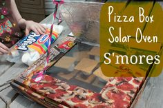 Pizza Box Solar Oven Smores {SimpleKids.net and the At-Home Summer Nature Camp from A Natural Nester and Friends}