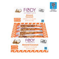 Diet Snacks Avoid those midday stomach growls and cravings by keeping one of these satisfying low FODMAP almond coconut bars in your pocket. These low FODMAP snack bars are loaded with crunchy nuts and coconut. Diet Snacks, Protein Snacks, Vegan Protein, Fodmap Diet, Low Fodmap, Healthy Fruits, Healthy Snacks For Kids, Organic Maple Syrup, Coconut Bars